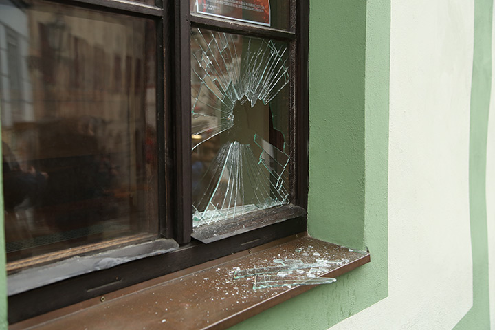 A2B Glass are able to board up broken windows while they are being repaired in Beckton.
